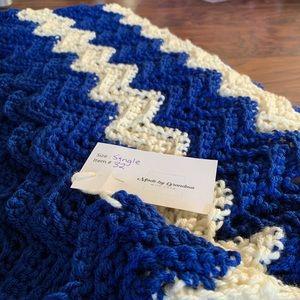 Made by Grandma - Hand Crocheted Single Blanket